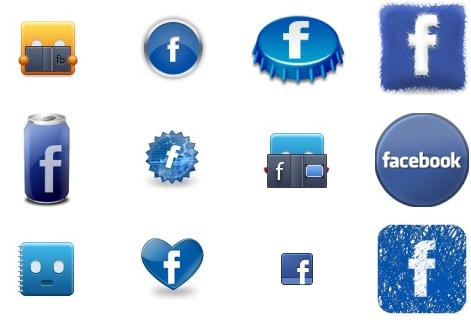 Разновидность иконок facebook скачать